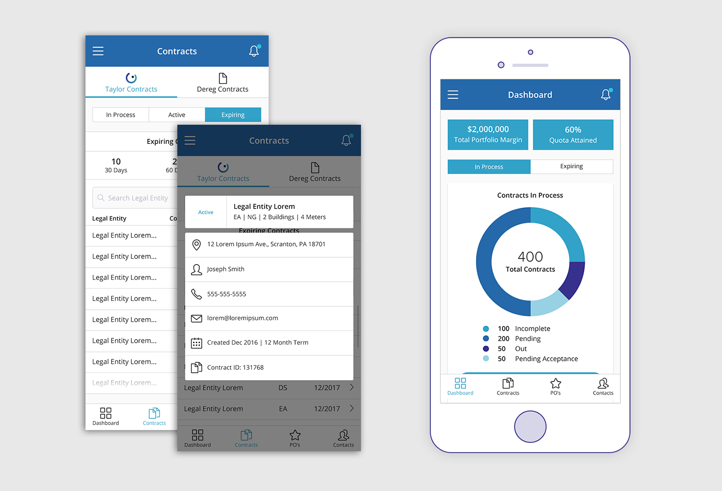 Contract Management Portal Mobile App